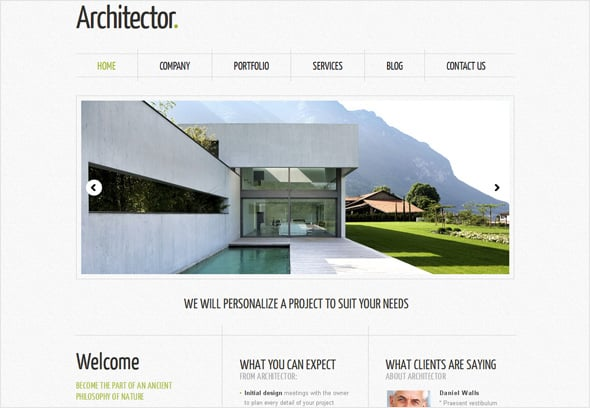 Best Website Template for Small Business in Architecture Industry