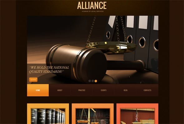 Legal Web Template in Realistic Style
