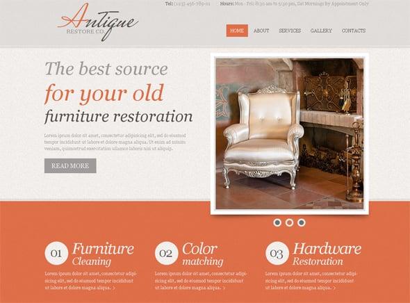 Typography Website Template
