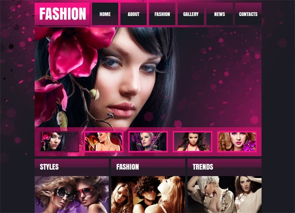 Website Template to Present Your Fashion Business