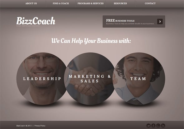 Website Template Present Your Coach Business