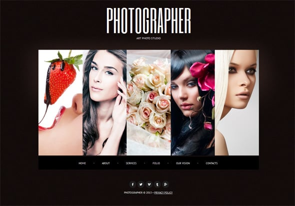 Web Template to Present Your Photography Business