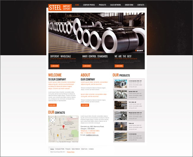 Industrial Company Website Template
