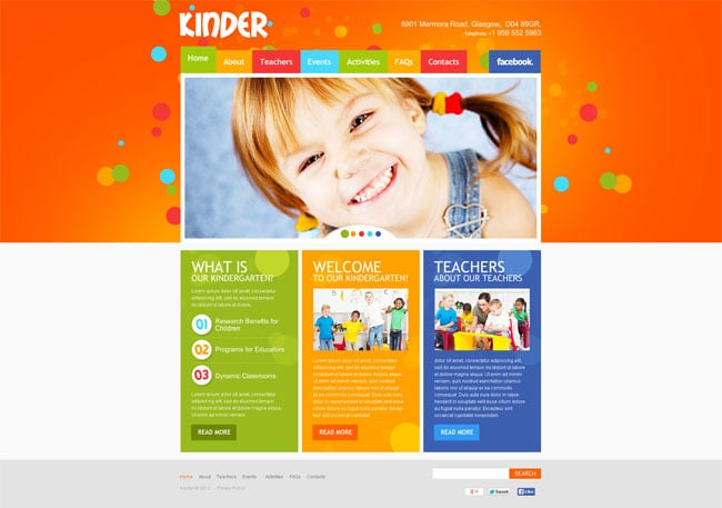 Kindergarten/Youth Organization Website Template
