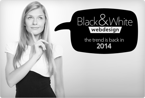 Black and White Web Design Trend 2014