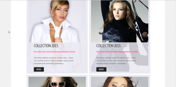 Grid Gallery Website Template
