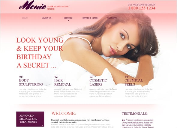 Anti-aging Medical Website Template
