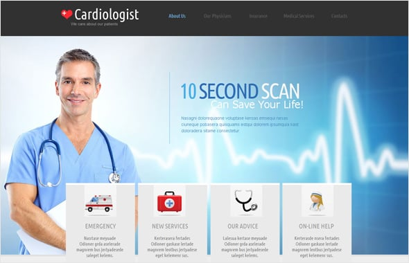 Cardiologist Medical Website Template