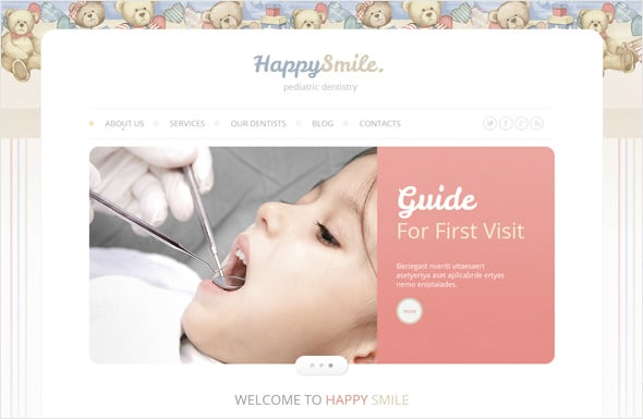 Child Dental Medical Website Template