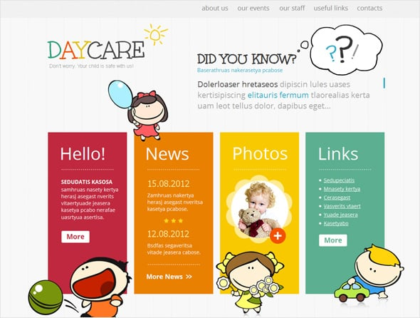 Children Care Centre Web Template