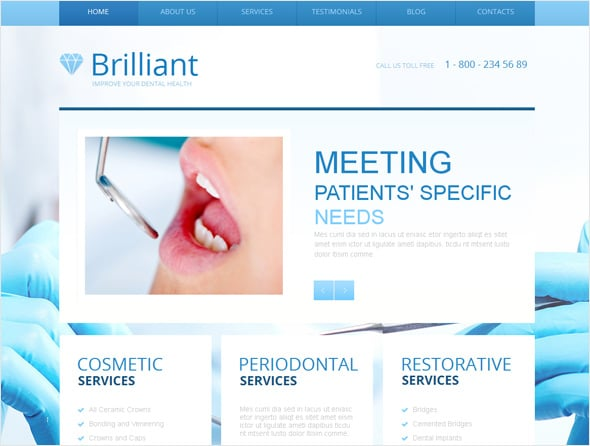 Dental Medical Website Template
