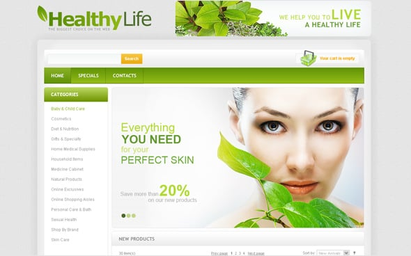 Health Medical Website Template