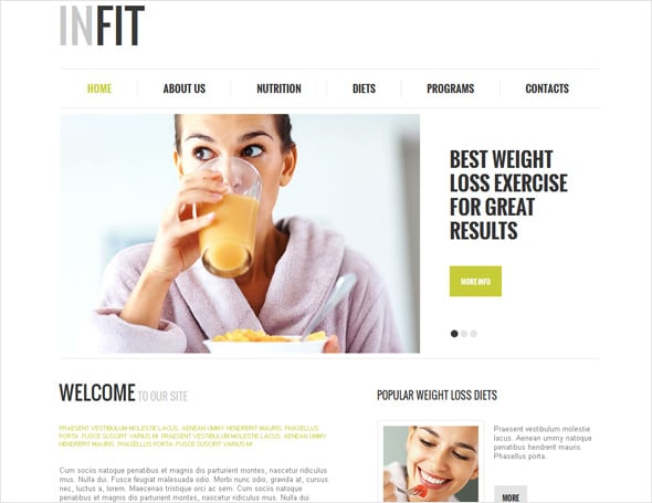 Healthy Lifestyle Medical Website Template