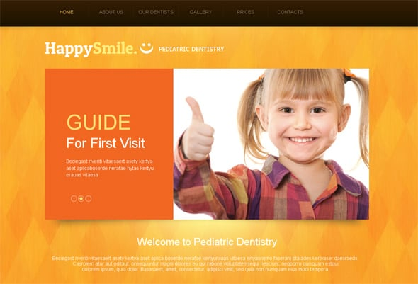 Kids Dental Medical Website Template