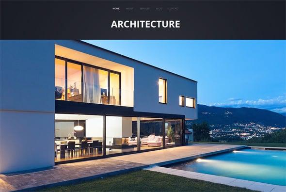 Futuristic Architecture Website Template