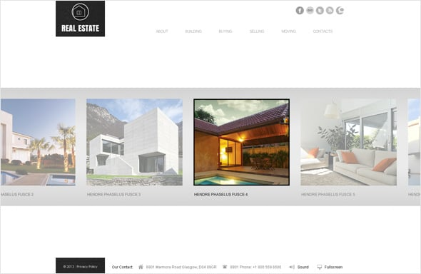 Real Estate Website Template with Sliding Gallery