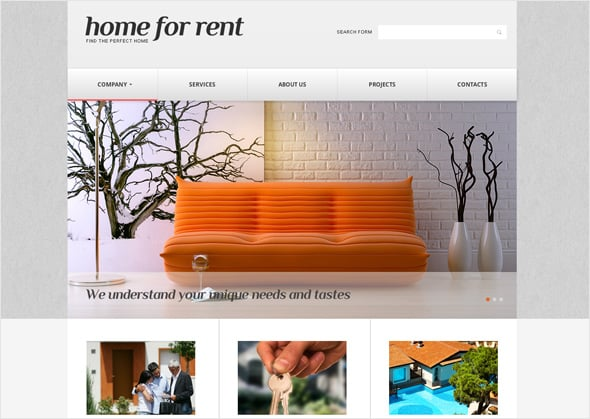 Content Structuring Real Estate Website Design
