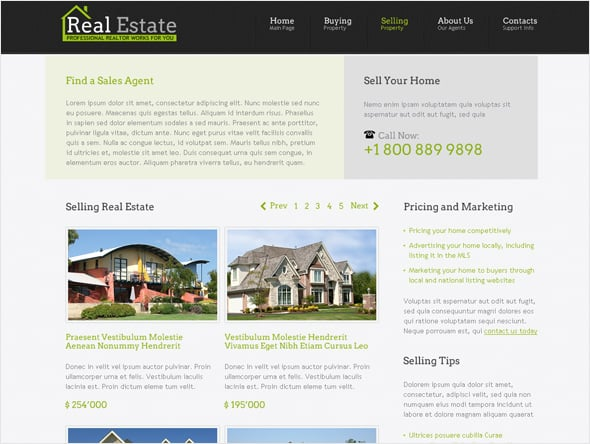 Real Estate Design with Easy Navigation
