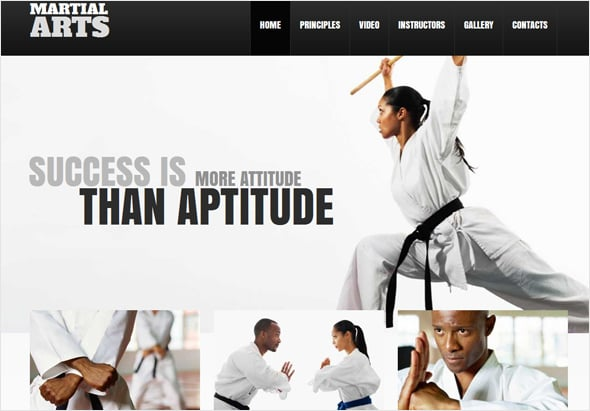 Female Oriented Martial Arts Web Template