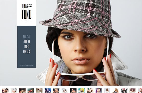 Photo Portfolio Template with Sliding Gallery