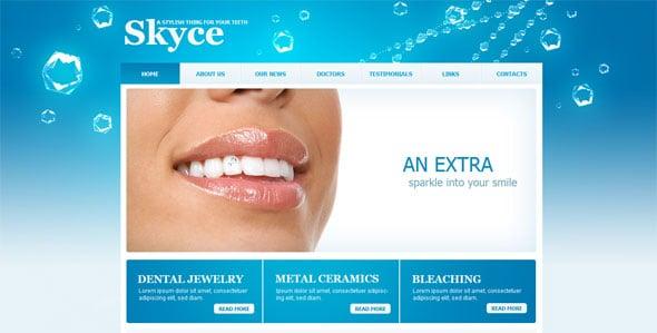 Blue Web Template for Dentsitry