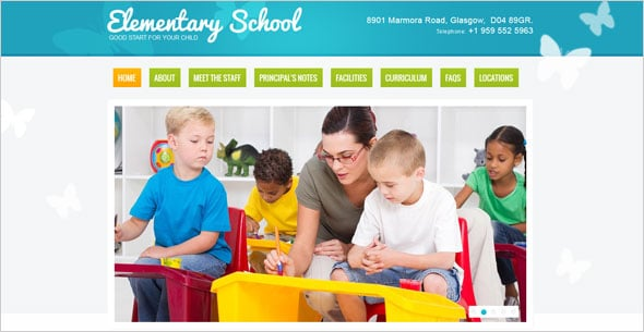 Kids Education Web Template