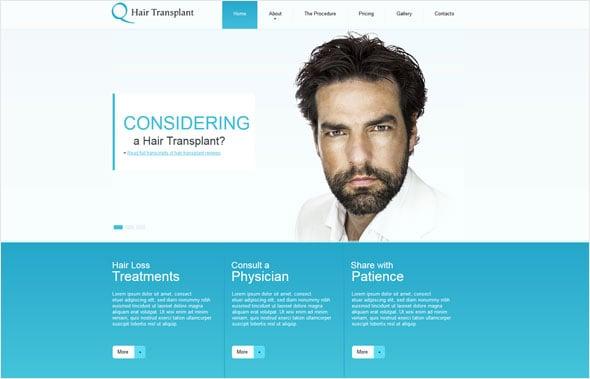 Hair Treatment Website Template