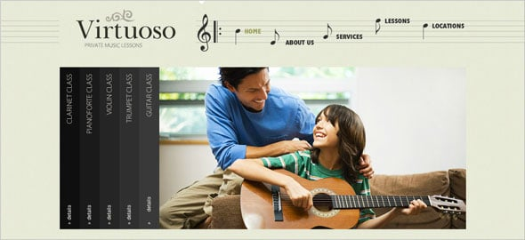 Website Template for Music School