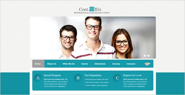 Website Template for Online Education