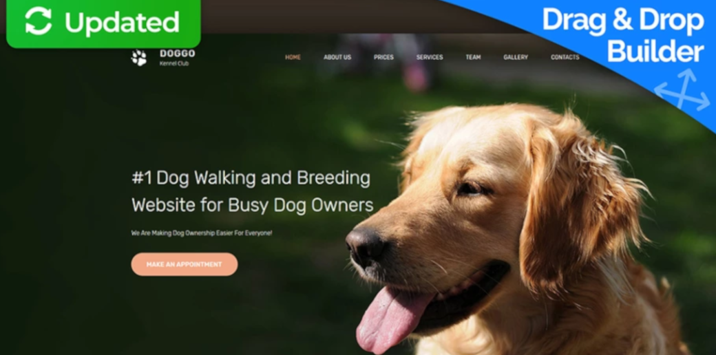 pet website template