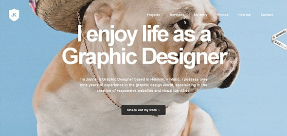 Website for Web Designer Janne Koivistoinen