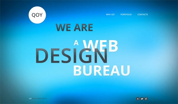 Web Template with Colorful Pages