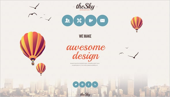 Website Template with Creative Navigation