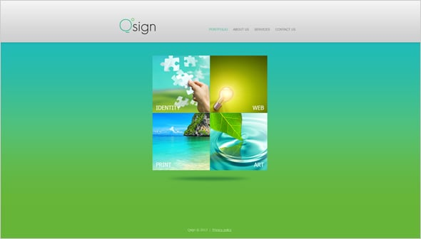 Green Website Template for Web Designers