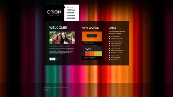 Creative Web Template for Designers
