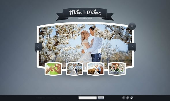 Engagement Web Template with Gallery