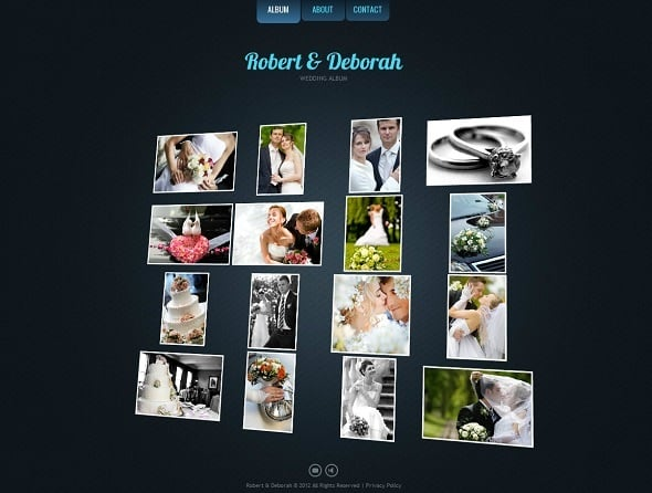 Engagement Website Template with 3D Gallery