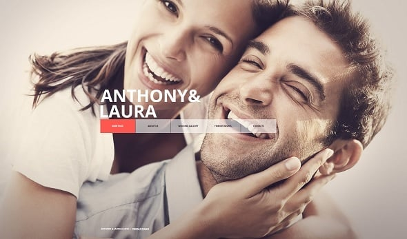 Engagement Website Template with Center Menu
