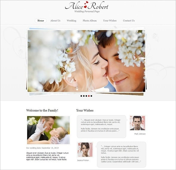 Engagement Website Template with Slider