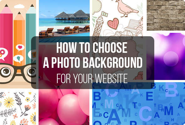 How to Choose a Photo Background for your Website