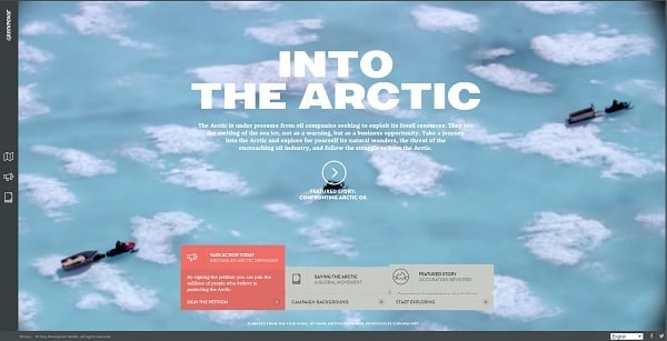 Into the Arctic Navigation Menu Design