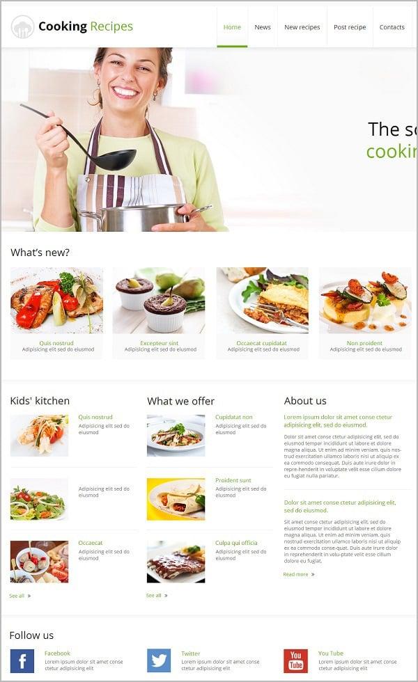 Light Cooking Website Template