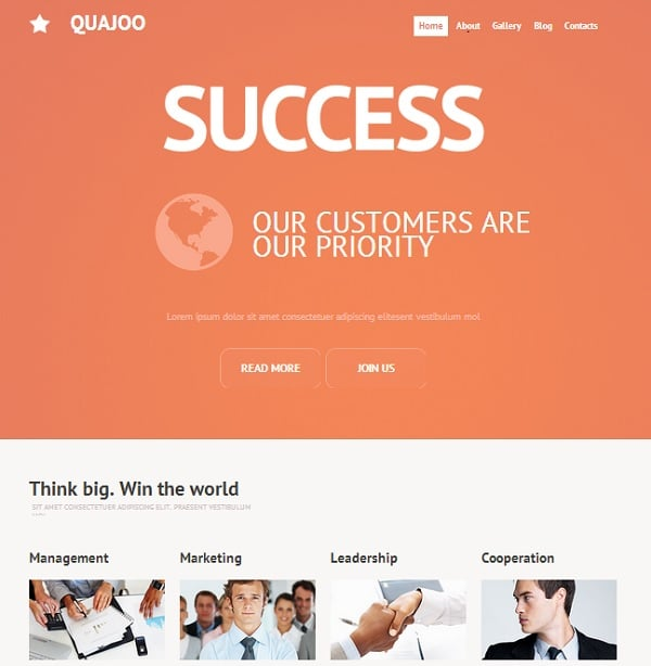 Orange Website Template for Accouting Agency