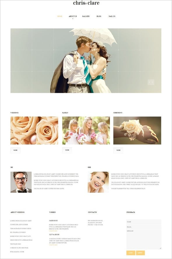 Sunny Engagement Website Template