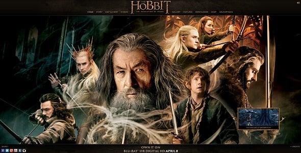 The Hobbit official webiste