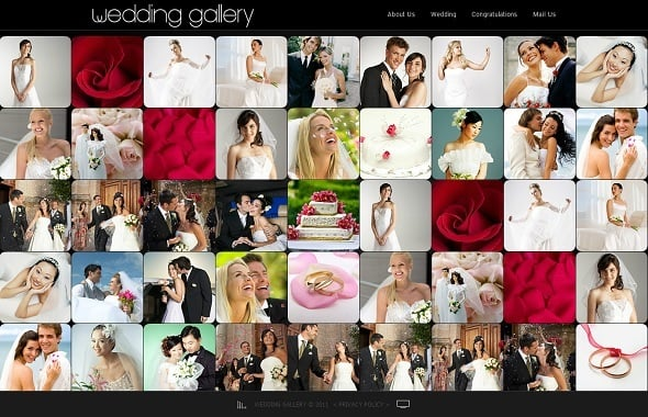Wedding Album Website Template with Gallery