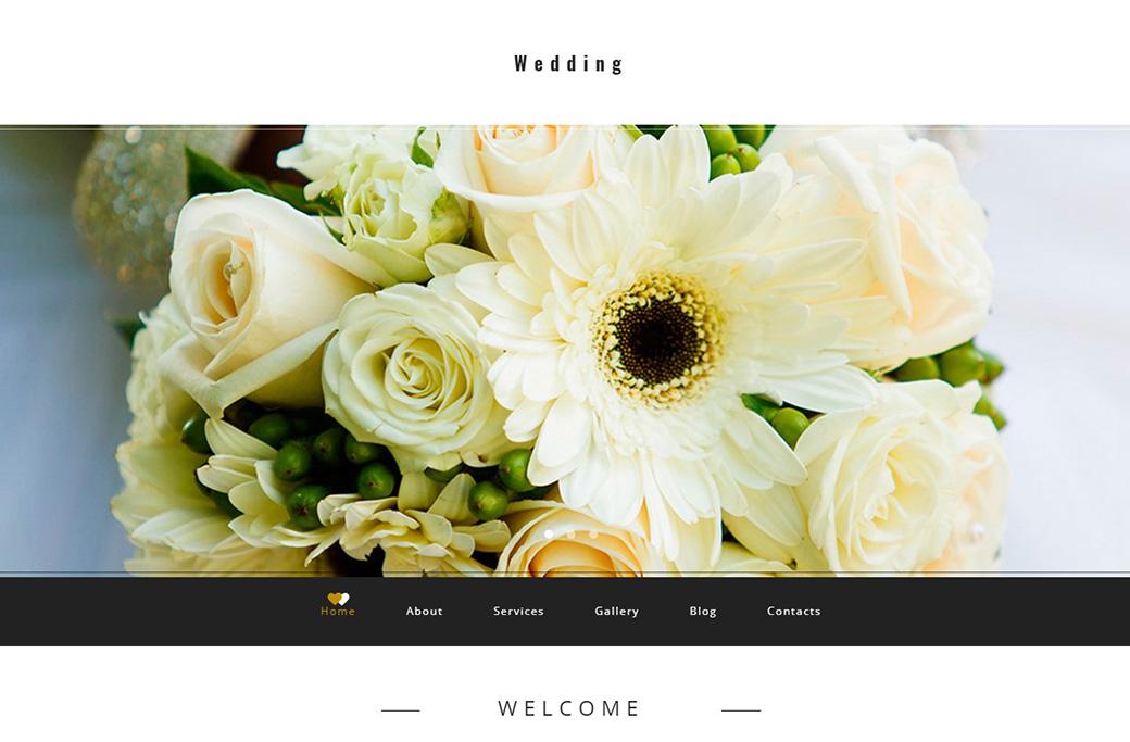 Creative Wedding Website Template image
