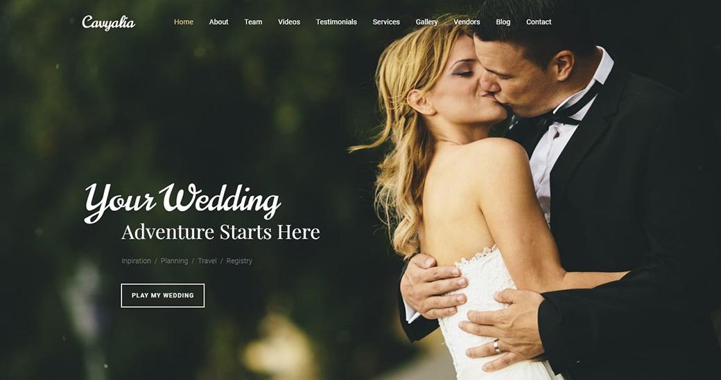 Destination Wedding Web Template image