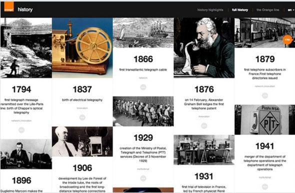 Orange History Website