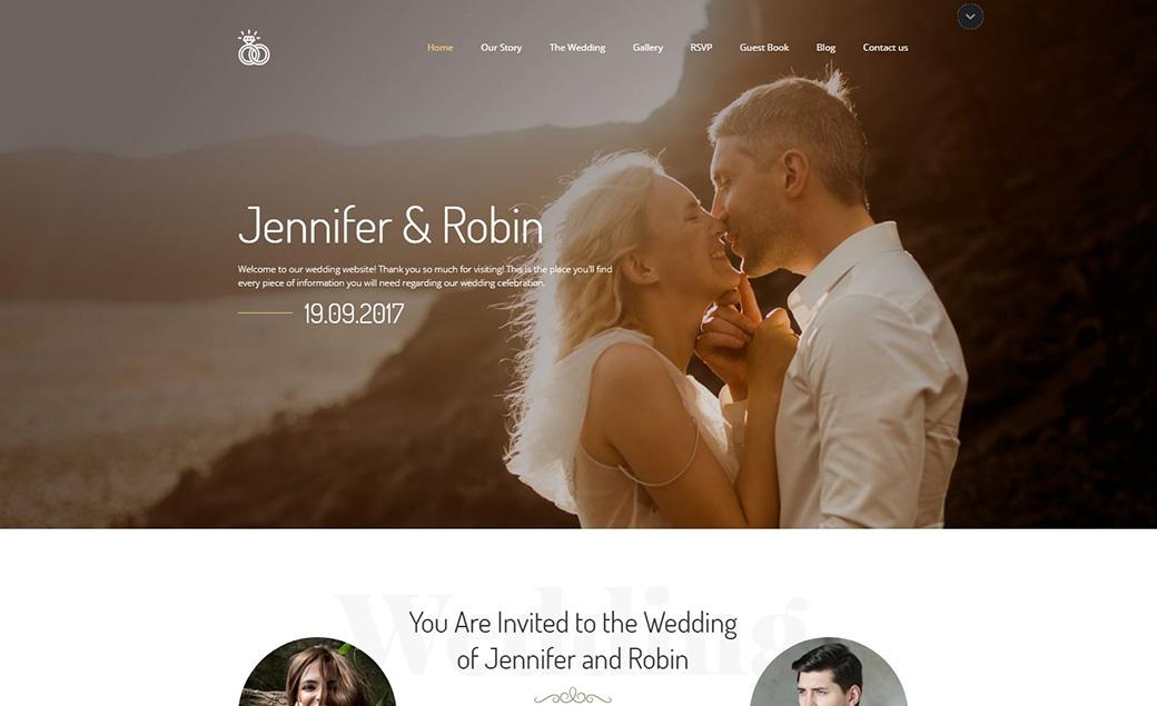 RSVP Website Template image